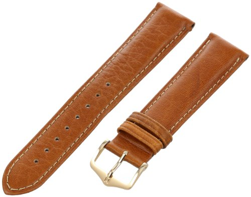Hirsch 010090-10-20 20-mm  Genuine Textured Leather No Allergy-Lining Watch Strap