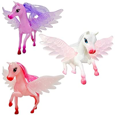 promobo lot set 3 figurines poney princesse licorne assortiment jouet fille