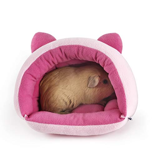 Niteangel Small Animal Cage Beds Warm House for Guinea Pig Rat Hedgehog Chinchilla Degu – Washable Pet Cave Bedding