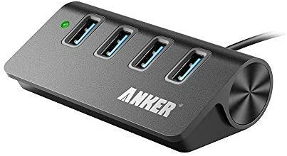 Anker 4-Port USB 3.0 Unibody Aluminum Portable Data Hub with 2ft USB 3.0 Cable for Macbook, Mac Pro / mini, iMac, XPS, Surface Pro, Notebook PC, USB Flash Drives, Mobile HDD and More