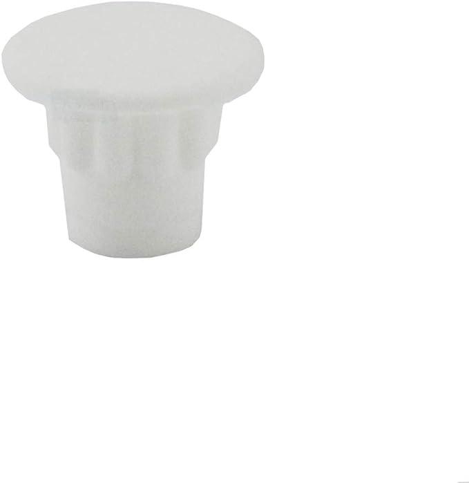 profundidad del orificio: 5 mm color blanco cabeza: 10 mm Irox MTP060510BI tap/ón: cubre agujero para muebles de 6 mm 10 tapones para agujero de 6 mm pl/ástico
