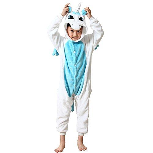 super cute utterly stylish new styles Missbleu Deguisement enfant pyjama combinaison animaux pyjama polaire  enfant Licorne bleu taille 110