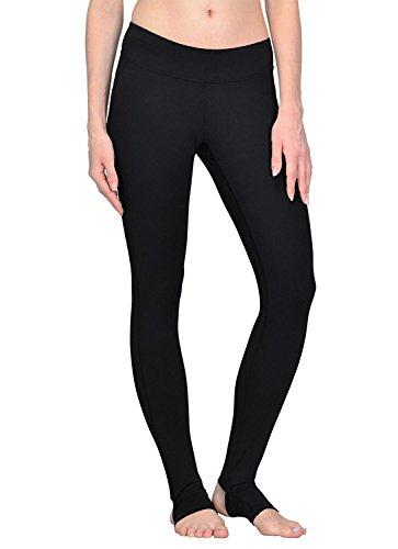 YIANNA Yoga Pants, Women's Power Flex Barre Stirrup Leggings Inner Pocket Workout Running Pants 4 Way Stretch Non See-Through Fabric, YA4006-Black-4