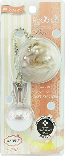 Diax Rabbico Charm Pure, Air Freshener 1pc (Sexy Shower) / Rear View Mirror Hanging Accessories Key Ring ()