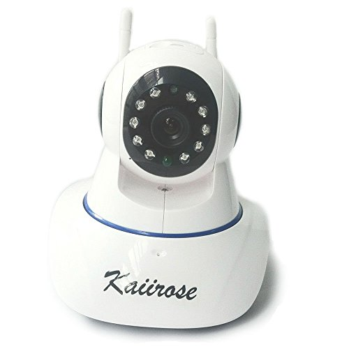 Kaiirose Wireless IP Camera, 720P HD Home WiFi Wireless Security Surveillance Camera with Motion Detection Pan/Tilt, 2 Way Audio and Night Vision Baby Monitor, Nanny Cam for iPhone/Android/PC