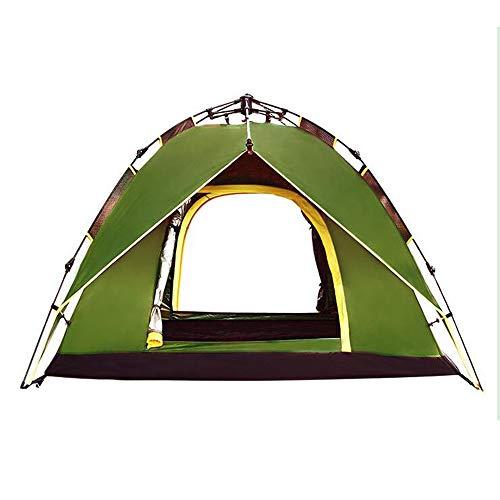 ぞっとするような不条理タンカーインスタント2秒オープンテント2人キャンプテント自動二重層防水バックパックテント (Color : Blue)