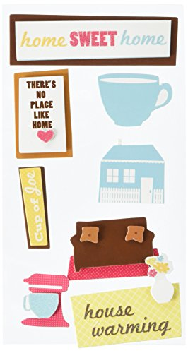 Stickers Remarks Dimensional (American Crafts Remarks Dimensional Sticker Sheet, Abode Whisk)