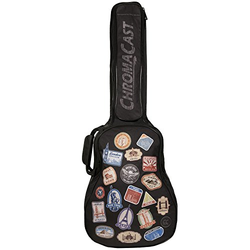 ChromaCast World Tour Graphic Two Pocket 3/4 Size Acoustic Guitar Padded Gig Bag (CC-A3/4PB-BAG-WT)