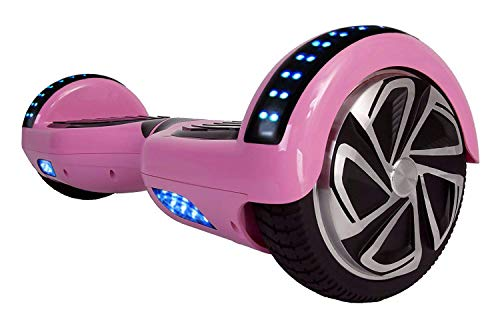 WorryFree Gadgets 6.5' UL2272 Certified Smart Self Balancing Hoverboard Personal Adult & Kids Transporter with LED Light (Pink)