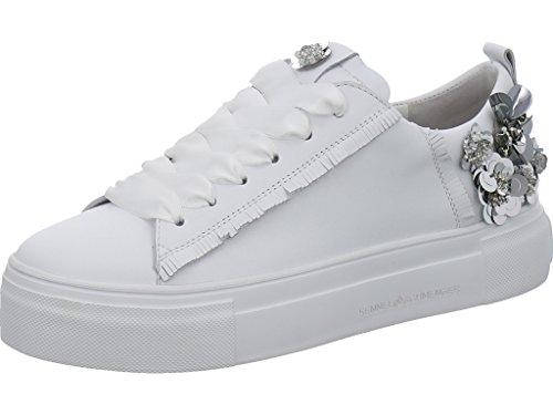 Sneaker Plateau Kennel & Schmenger Bianco / Argento