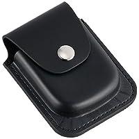 Charles-Hubert, Paris 3572-6 Soporte de reloj de bolsillo de cuero negro de 56 mm