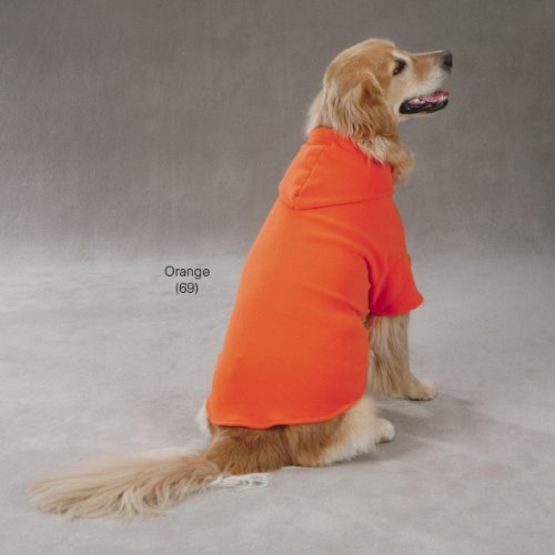 Casual Canine Polyester Basic Fleece 10-Inch Dog Hoodie, X-Small, Orange