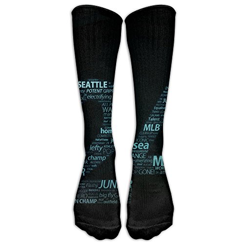 Most Fashion Maker Perfect Gifts - MVP Junior Mariners Lucky Number 24  Design Black Print Stockings Breathable Ski Socks Long Tube Socks For Women  Teens ... 6c50098743a8f