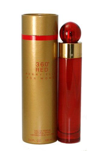 360 Red by Perry Ellis for Women EDP Spray, 3.4 Ounce (Red Parfum)