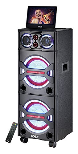 Pyle PKRK215 Bluetooth PA Loudspeaker Karaoke Entertainment Audio & Video System, Wireless ()