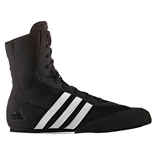 adidas Box Hog Kids Boxing Trainer Shoe Boot Black/White - U