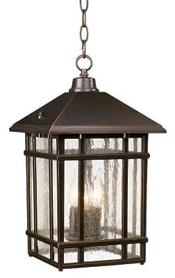 "J du J Sierra Craftsman 16 1/2"" High Outdoor Hanging Light"