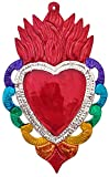2 Ex Voto Sacred Heart | Hand Crafted Mexican Tin