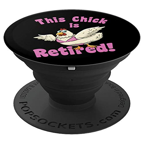 - Retirement Chick Funny Beach Bikini - PopSockets Grip and Stand for Phones and Tablets
