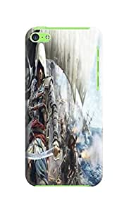 fashionable Series Lightweight Waterproof Assassin's Creed Protection Case Covers for iphone 5c