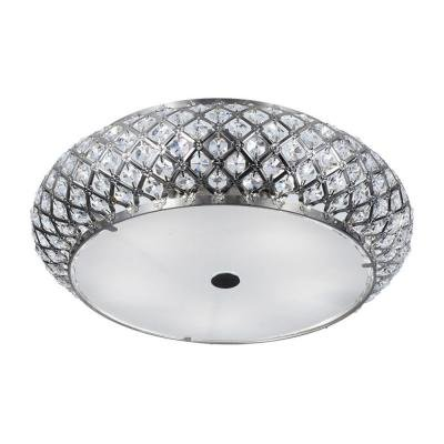 Home Decorators Collection 5-Light Brushed Stainless Steel Flushmount