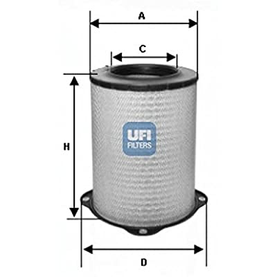 Ufi Filters 27.587.00 Air Filter: Automotive