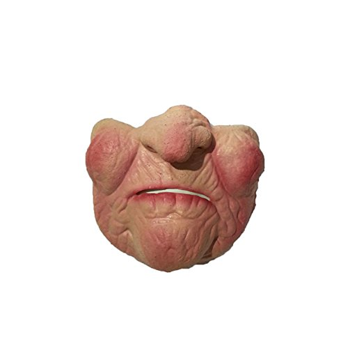 Boger Adult Party Funny Scary Horrible Mask Halloween Fool's Day Latex Mask Cosplay Costume Half Face Mask Old (Old Lady Costumes Mask)