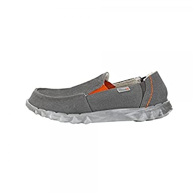 Dude Shoes - Mocasines de Lona para Hombre Gris Gris: Amazon.es: Zapatos y complementos