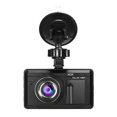 KKmoon Dash Cam, 3.0 inch LCD Screen Car DVR Camera, Full HD 1080P Dashboard Reversing Camera, 120° Wide Angle, GPS Real-time View, Speed Warning, Loop Recording, WDR Night Vision, G-Sensor