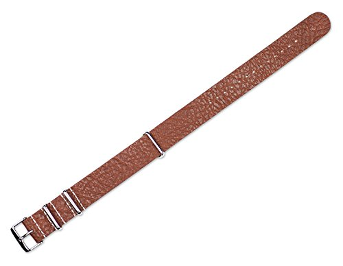 22mm-replacement-leather-watch-band-military-style-one-piece-leather-havana-watch-strap
