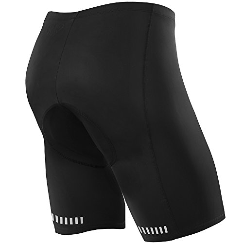NOOYME (Mid-Year Deals) Men's Cycling Shorts 3D Gel Padded Bicycle Riding MEN'S BIKE SHORTS (M, Black) -