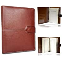 A5 Leather Brown Business Executive Organizer Diary with Open Date BL5999