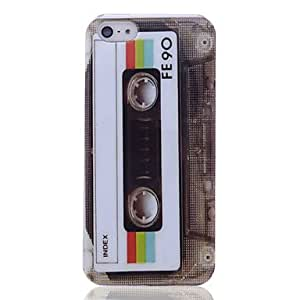 Lureme Tape Pattern Back Case for iPhone 5/5S