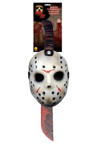 Rubie's Men's Friday The 13th: Jason Mask and Machete Set, As Shown, One Size