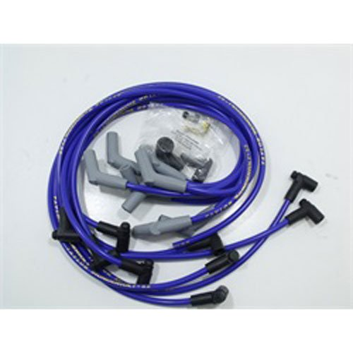 Taylor Cable 86632 ThunderVolt 8.2mm Ignition Wire Set Spiro Wound Race Fit 135 deg. HEI Over Valve Cover Chevy Big Block Blue ThunderVolt 8.2mm Ignition Wire Set