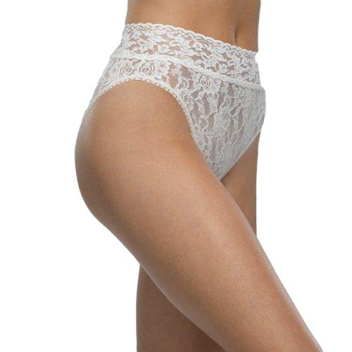 Hanky Panky Women's Signature Lace French Bikini Ivory Bikini (Lace High Leg Brief)