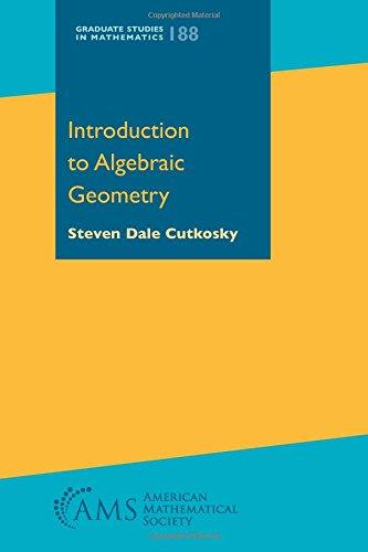 Introduction to Algebraic Geometry (Graduate Studies in Mathematics)