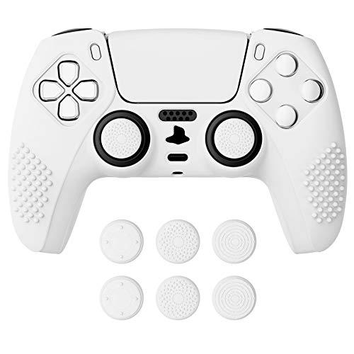 funda + sticks para control playstation 5 Extremerate blanco