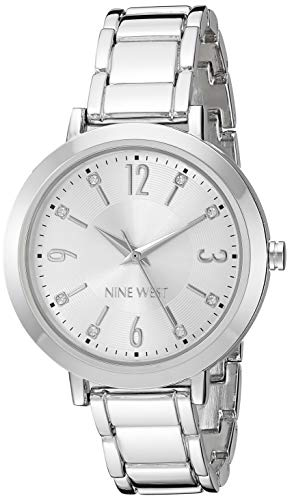 Nine West Women's NW/2277SVSV Crystal Accented Silver-Tone Bracelet ()