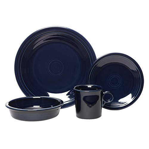 Fiesta 4-Piece Place Setting, Cobalt (4 Place Setting Blue Piece)