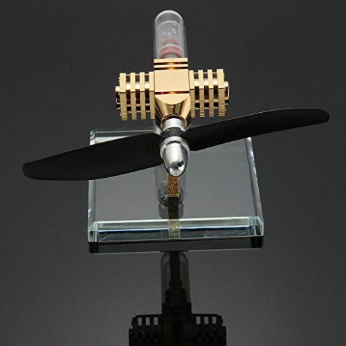 CUTICATE Mini Propeller Type Hot Air Stirling Engine - High Performance Electric Generator Model, Physics Experiment
