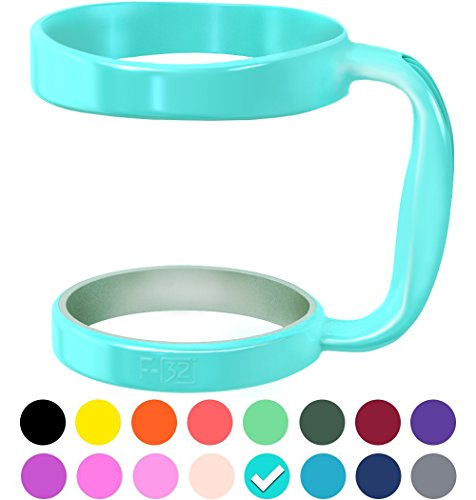 F-32 Color Handle available for 30oz or 20oz YETI, RTIC, OZARK TRAIL, SIC CUP tumbler & more - 16 colors - Deep Blue Wine Gray Purple Hot Pink Red Neon Orange Green Yellow & more (30OZ, SEAFOAM BLUE)