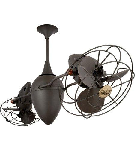 (Matthews Fan Company AR-BZ-MTL Ar Ruthiane Indoor Ceiling Fans in Bronze)