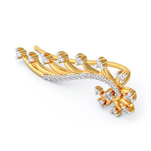 18K Or jaune 0.52CT TW White-diamond (IJ | SI) Boucles d'oreille à tige