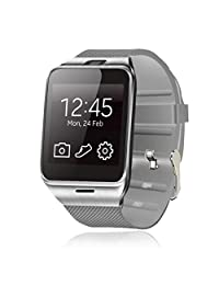 Annbully Men Smart Watch Bluetooth phone Camera Waterproof Wireless Pedometer Sport Activity Fitness Tracker for Andriod Samsung HTC Sony LG HuaWei IPhone IPad IOS(White)