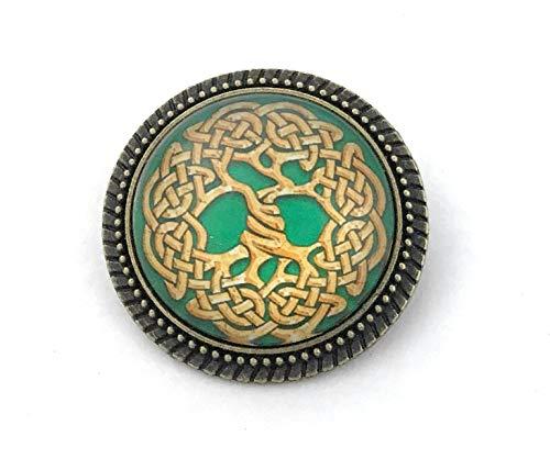 Celtic Tree of Life Pin - Handmade Brooch