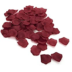Aspire 4000 Pieces Silk Rose Petals, Artificial Flower Confetti, Wedding/Party / Gift Decoration-Burgundy