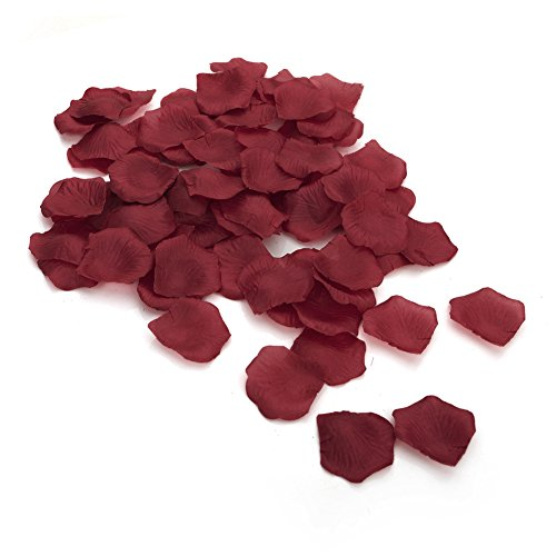 Roses Silk 4000 (Aspire 4000 Pieces Silk Rose Petals, Artificial Flower Confetti, Wedding / Party / Gift Decoration-Burgundy)