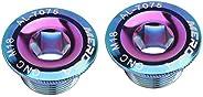 YIJU 2X Crank Cover Screw Fastening Sprocket Crankset, Use 5mm Inner Hexagon Spanner to Install The Bolts