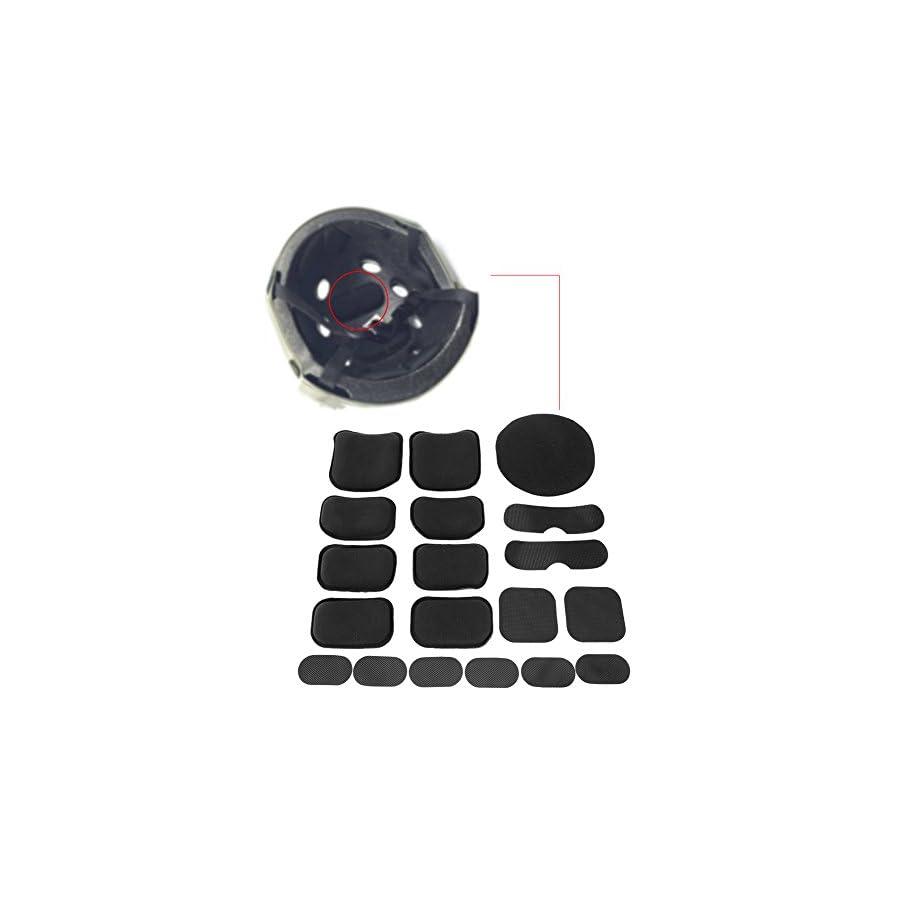 Tactical Helmet Pads 19pcs/set Soft and Durable EVA Motorcycle Helmet Replacement Accessories